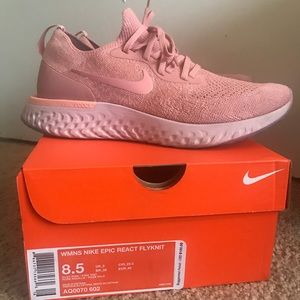 e9cfd7ba83d7 Nike Shoes - Nike Epic React Flyknit in Rust Pink